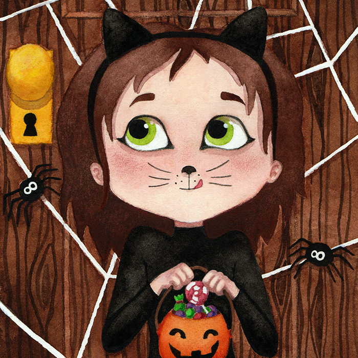 Le petit chat d'Halloween