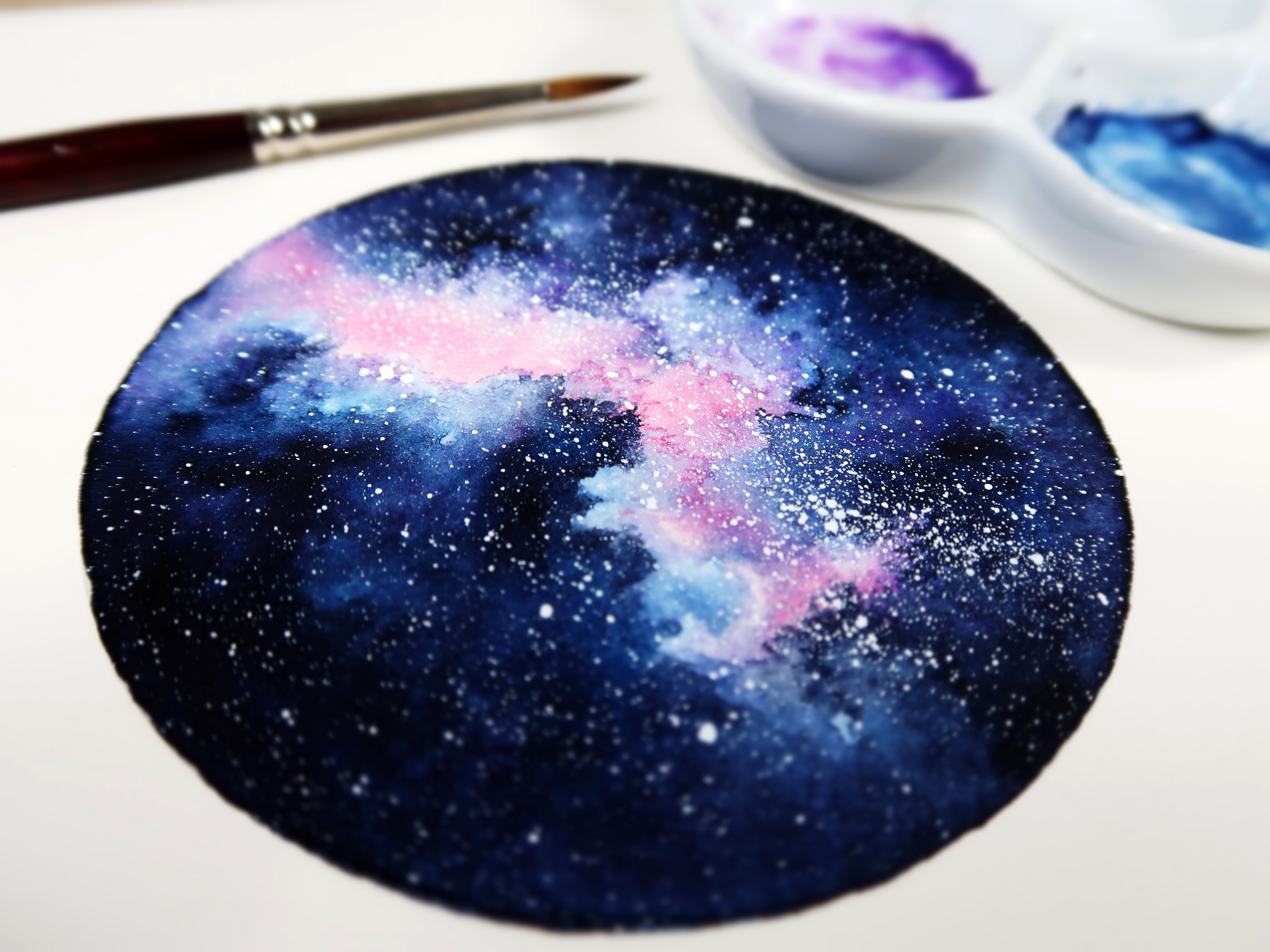 Peindre l'effet galaxie