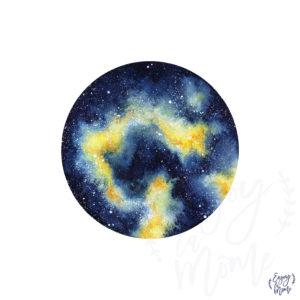 galaxie_jaune_signee