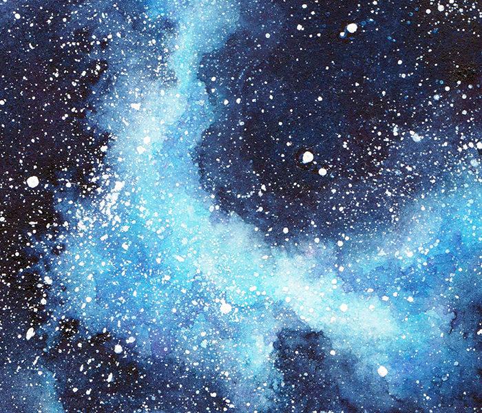 Galaxie bleue