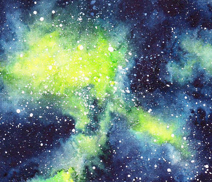 Galaxie verte