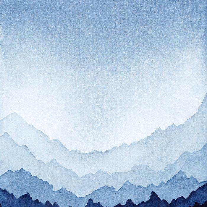 Montagnes au crépuscule