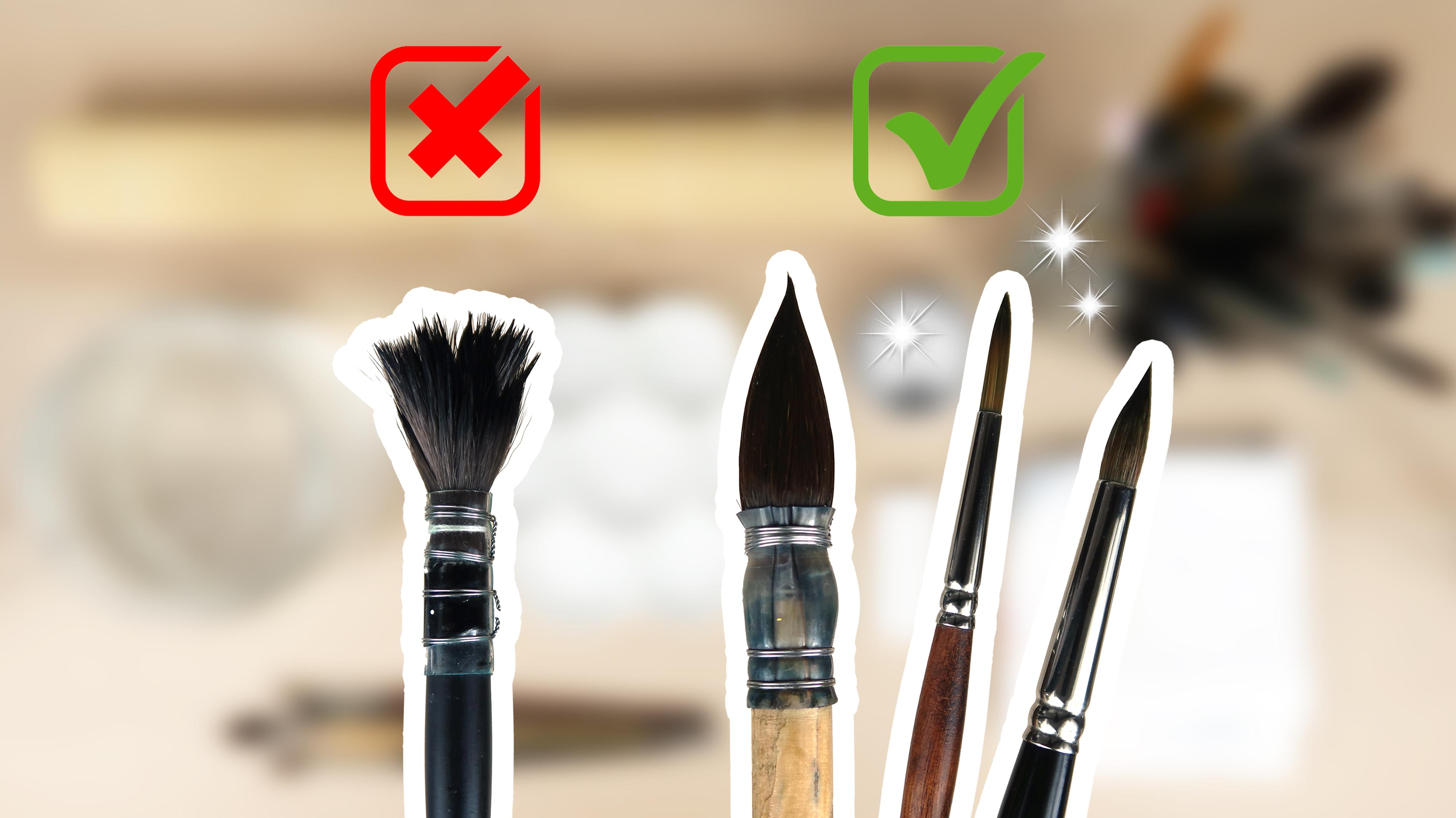 Comment bien nettoyer ses pinceaux d'aquarelle?