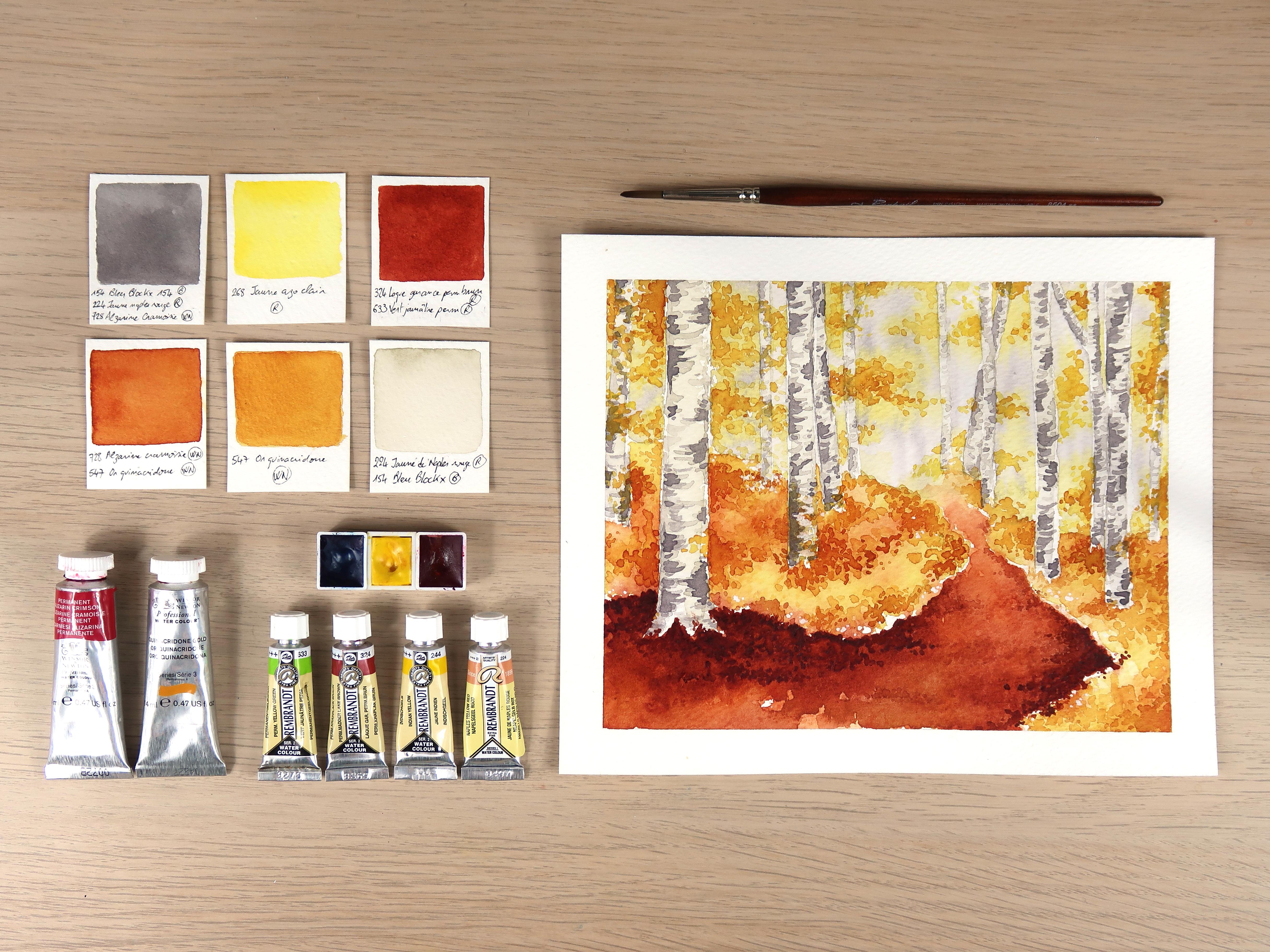 Comment faire une palette de couleurs automnales à l'aquarelle