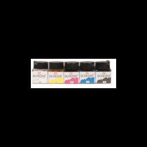 set-de-5-flacons-de-30ml-encre-ecoline