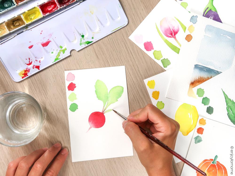 La Minute créative découvrez mes petits tutos aquarelle