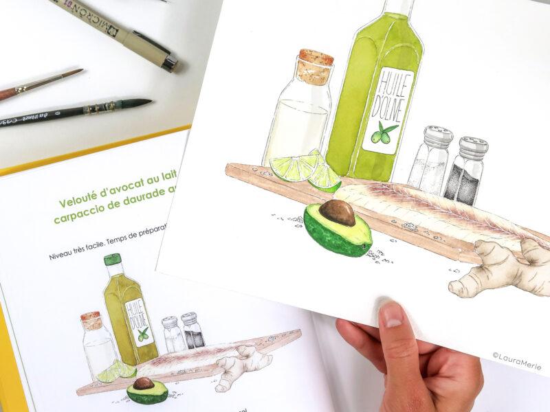 Illustration du livre Soupes d'été aux éditions Herscher